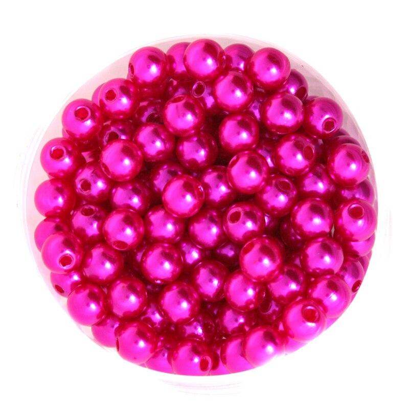 Фуксия Цвет Круглый около 260 шт./лот 8 мм диаметр. Имитация Пластик жемчуг Бусины оптовая продажа для вас DIY cn-bsg01-03fs