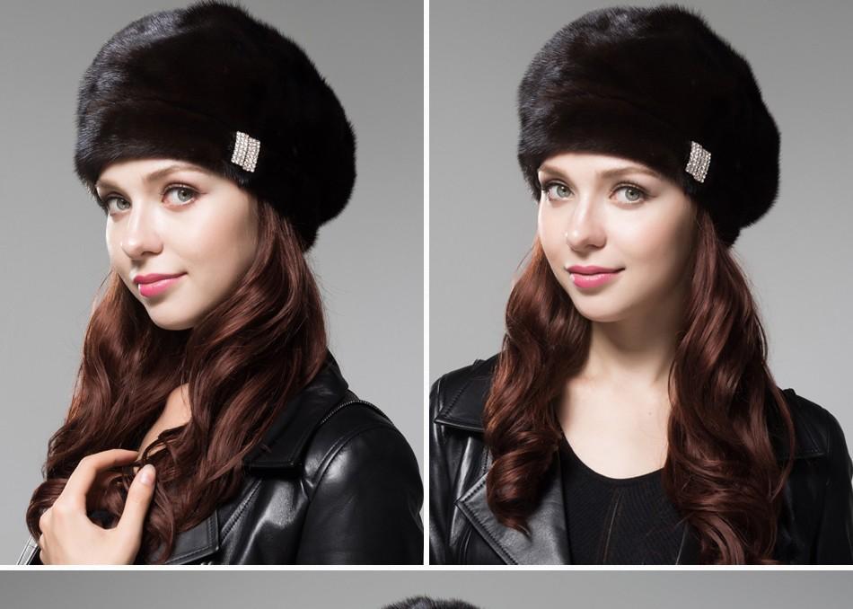 mink fur hat female winter PCM027 (14)