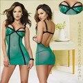 Women's Sequin Mesh Racy Temptations Sexy Lingerie Night Wear Backless Sleep Wear