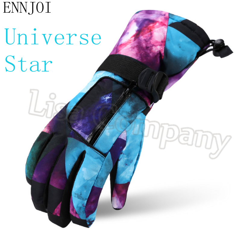 a pair of Warm Winter Waterproof Windproof Diverse Styles Ski Gloves Snowmobile Motorcycle Riding Unisex Snowboard Gloves