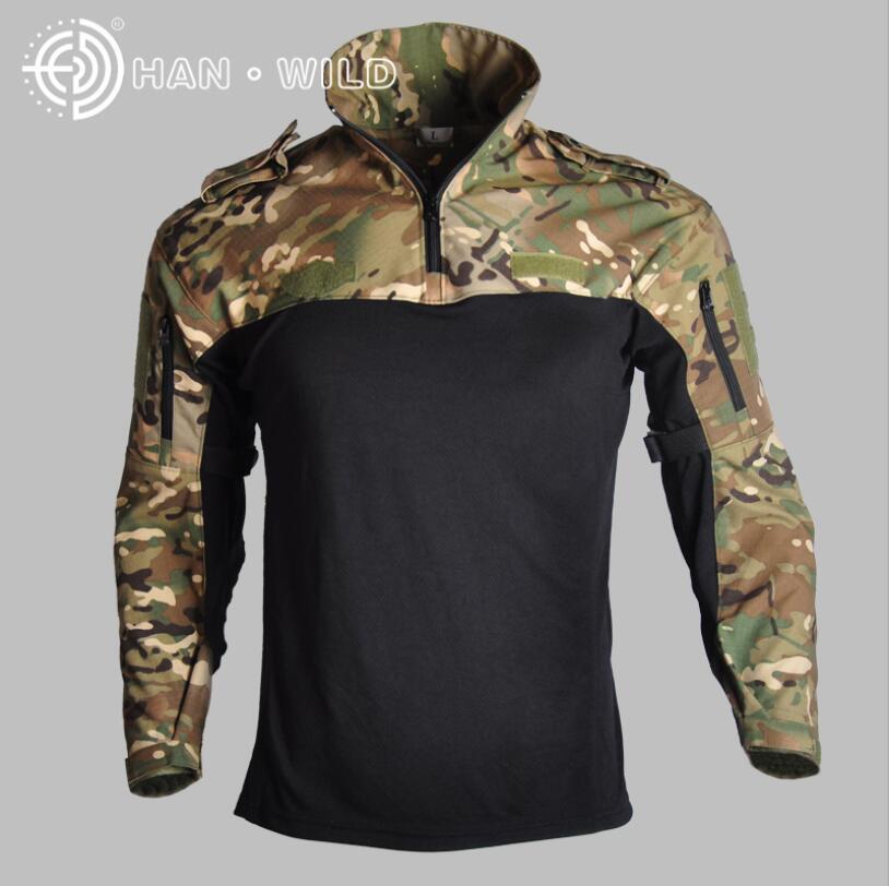 2019 en plein air hommes tactique Camouflage chemises automne hiver à manches longues respirant Fit Combat rapide assaut chasse randonnée chemises