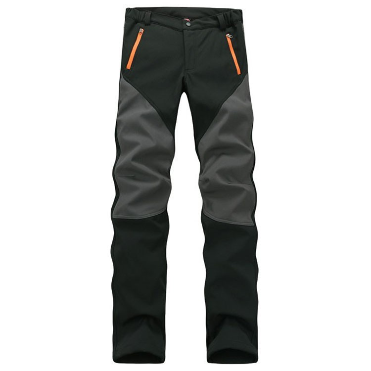 Pants Casual Fleece Winter Men's Windproof High-Quality New Autumn Softshell