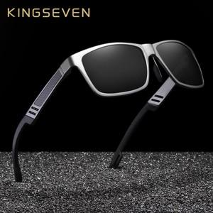 Image 1 - Kingseven真新しい偏光サングラス男性ユニセックスメタルフレーム運転メガネ女性レトロなサングラスgafas