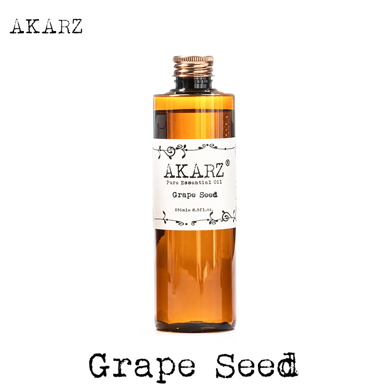 AKARZ Famous Brand Grape Seed Oil Natural Aromatherapy High-capacity Skin Body Care Massage Spa Grape Seed Essential Oil