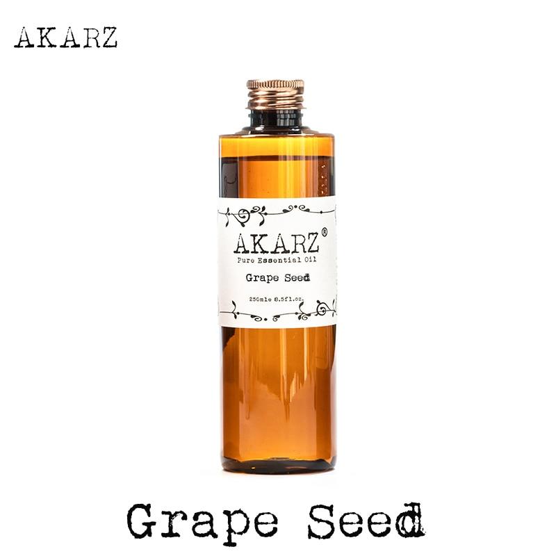 AKARZ Famosa marca aceite de semilla de uva aromaterapia natural piel de gran capacidad cuidado del cuerpo masaje spa semilla de uva aceite esencial