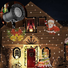 12 Patterns Christmas Laser Snowflake Projector Outdoor LED Waterproof Moving Snow Snowflake Home Garden Star Light Decoration(China)