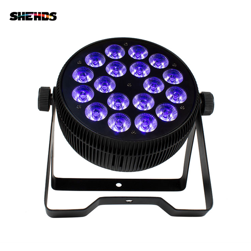 SHEHDS Aluminum LED Flat Par 18x12W RGB+UV Light Wireless DMX512 Stage Lighting For DJ Disco Party Stage professional LightingSHEHDS Aluminum LED Flat Par 18x12W RGB+UV Light Wireless DMX512 Stage Lighting For DJ Disco Party Stage professional Lighting