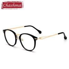 Chashma Marca Inoxidável Quadros de Qualidade do Sexo Feminino Retro  Moldura Redonda óculos de armação oculos de grau Óculos Vid. 05b12f59a1