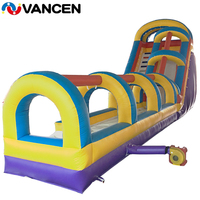Water Slide 15mL*5mW Inflatable Water Slide Rental Commerical Use Inflatable Slide for Party Play Amusement Park