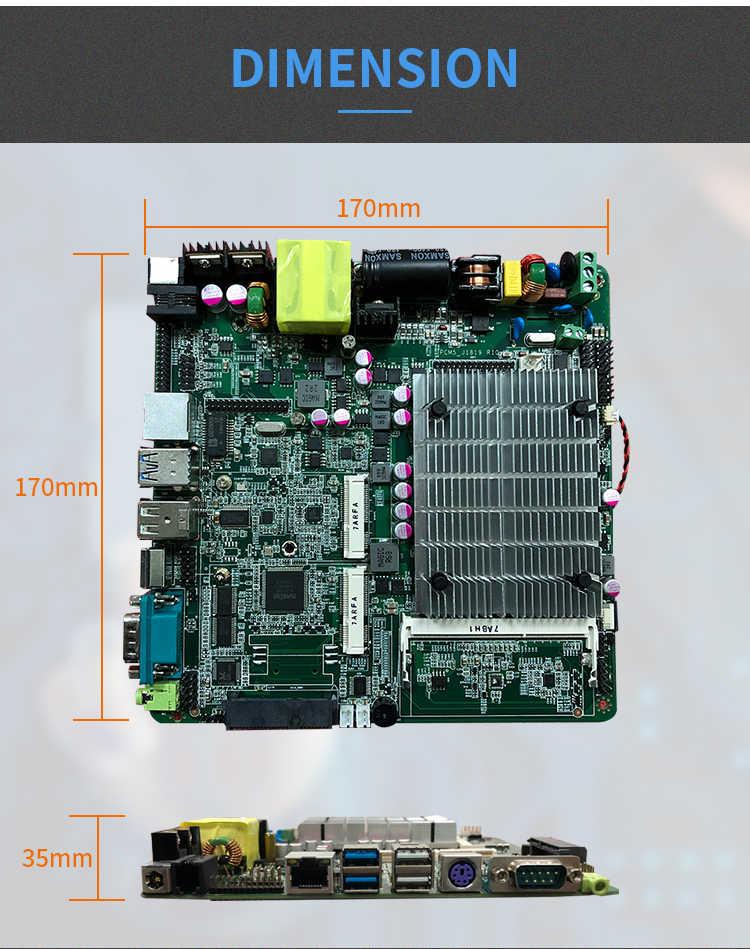 Năm 2019 Giá Rẻ Bo mạch chủ J1800 J1900 một Gigabit Ethernet 1X RS232 Cổng 4 xUSB công nghiệp Quạt Không Cánh ITX Bo mạch chủ