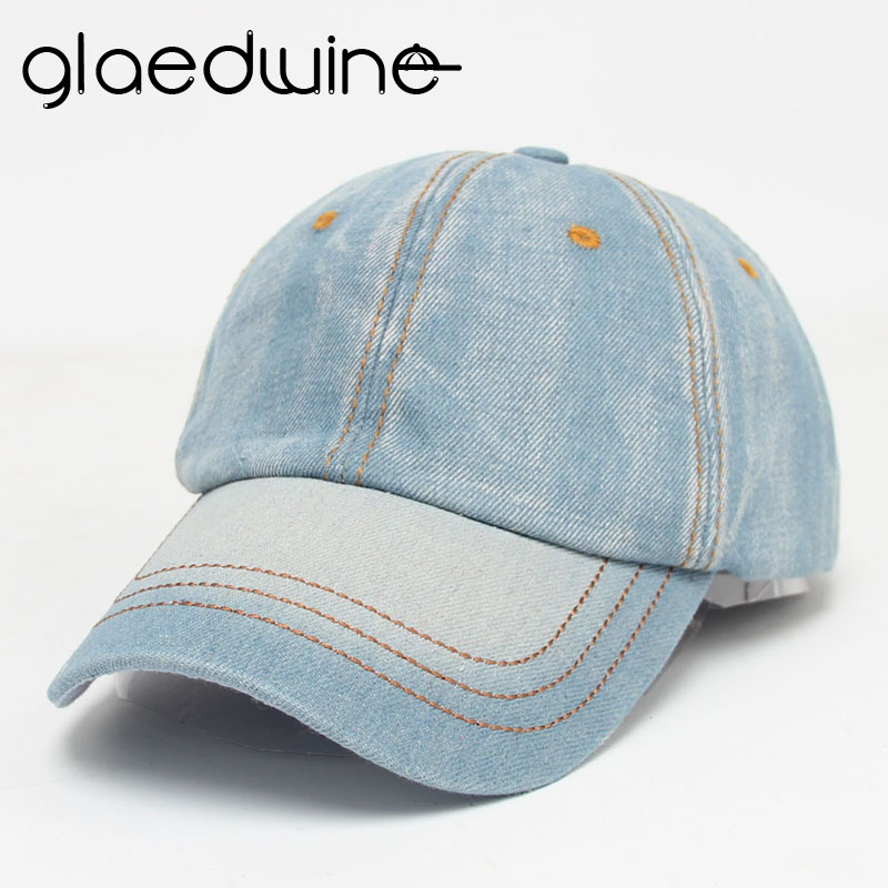 Glaedwine Baseball Cap Men Women Snapback Caps Brand Homme Hats For Women Falt Bone Jeans Denim Blank Gorras Casquette Plain hat new high quality warm winter baseball cap men brand snapback black solid bone baseball mens winter hats ear flaps free sipping