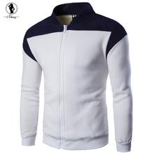 2017 neue ankunft Mann warme Sweatshirt hot 3 farben baumwolle wolle stehkragen pullover plus größe M-2XL dünnen männer sweatshirts