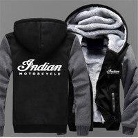 Indian Motorcycle Brand Mens Baseball Uniform Cashmere Hoodie Print Sweatshirts Men Thick Warm Cotton Jacket