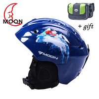 2018 Moon Ski Helmet Ultralight And Integrally Molded Professional Snowboard Helmet Men Skateboard Snow Helmet Multi