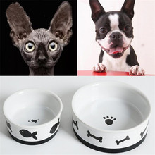 New Dog Cat Feeder Pet Food Drink Water Bowl Ceramic Dish Accessory Storage Equipment For Small Dog Kitten Little Pet pounce little kitten