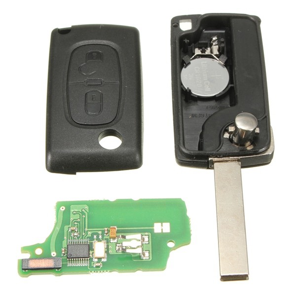 2 Knöpft Fernschlüssel 433 MHz + Transponder Chip ID46 Für PEUGEOT 207 307 308 0536 modelle 2005 bis April 2011