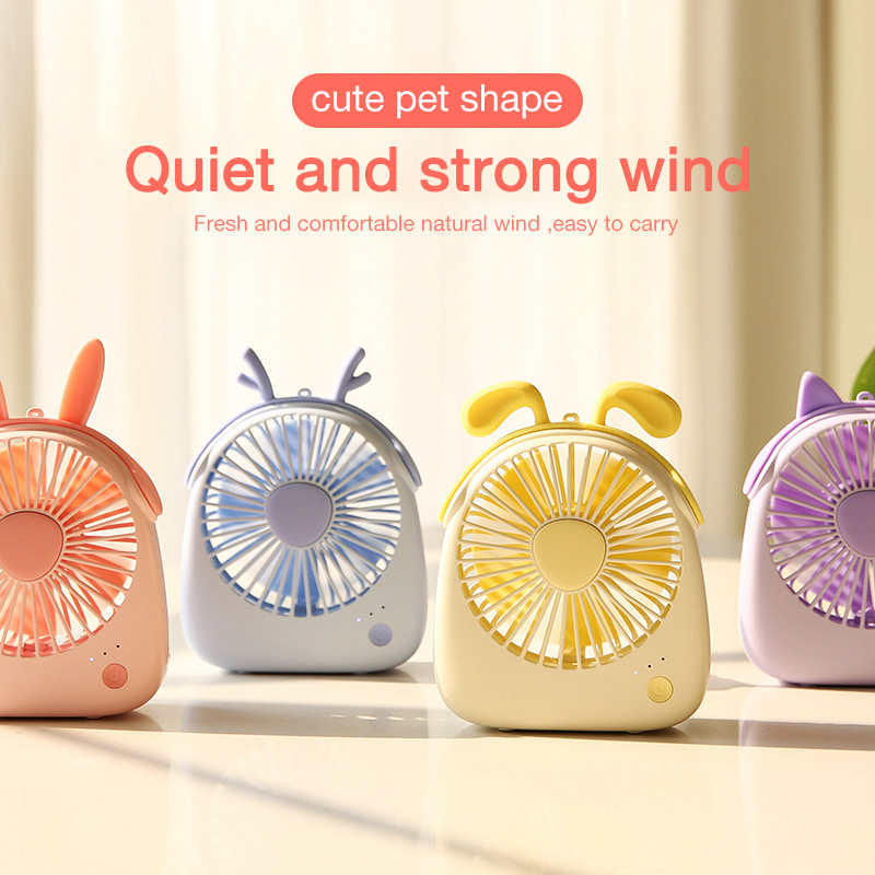 Cafele Mini USB Air Cooling Fan Rechargeable Portable Fan For Desktop Office PC Computer Portable Handheld 3 Speeds Mute Air fan-in USB Gadgets from Computer & Office