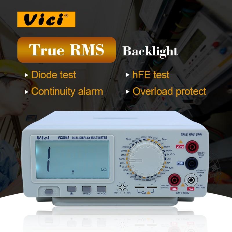 HIgh precison Digital Multimeter Bench Top 4 1/2 True RMS DCV/ACV/DCA/ACA DKTD0122 precision desktop multimeter Vici VC8045 victor vc9808 3 1 2 digital multimeter dcv acv dca r c l f