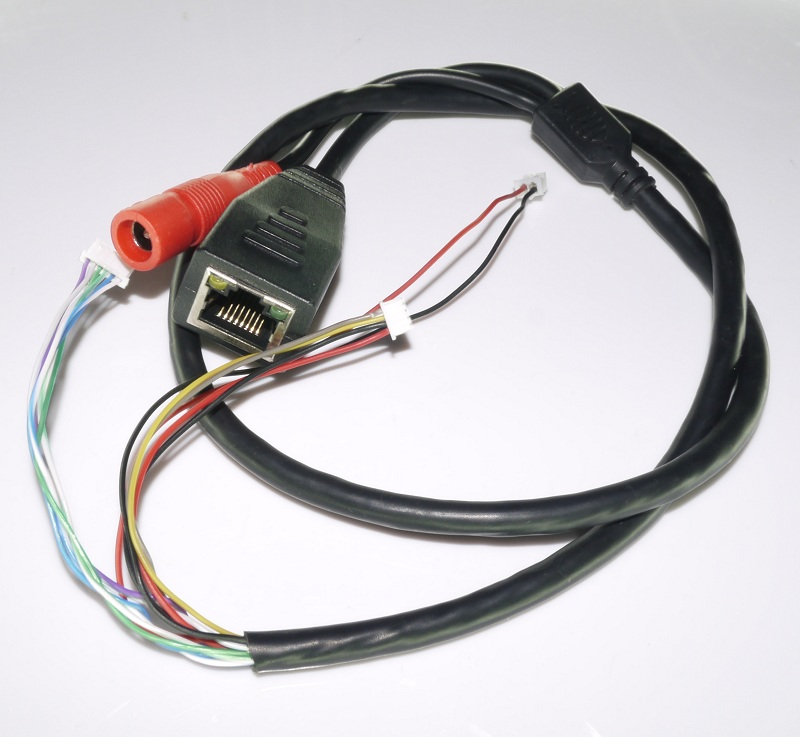 Ip Camera Cables : Cctv poe ip network camera pcb module video power cable