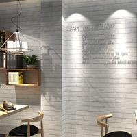 Retro Weiße Ziegel Tapete Moderne 3D Geprägte PVC Wand Papier Mode Bekleidungsgeschäft Restaurant Hintergrund Wandverkleidung