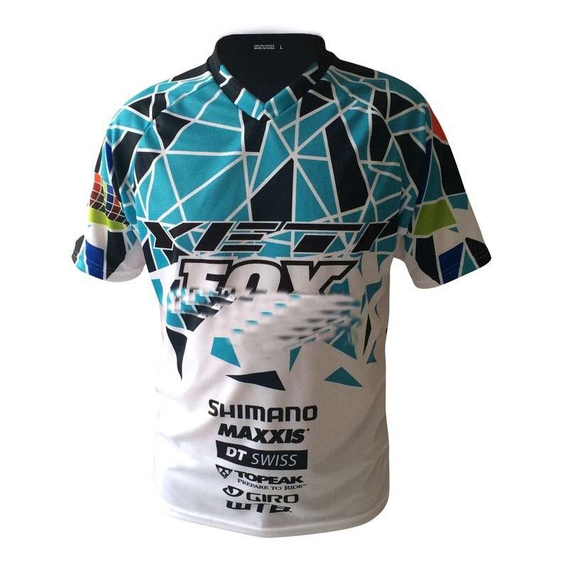 Prix pour Tops 2017 nouveau Gros 3 Couleurs vtt MOTO GP T-Shirts Motocross à manches courtes T-shirt DH Hommes de off-Cyclisme sur route jersey