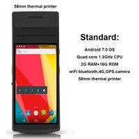 RUGLINE 5 5 zoll android 7.0 OS Fingerprint PDA Mit 58mm thermische drucker