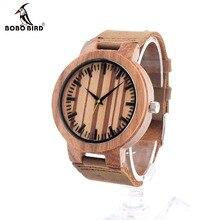 Bobo bird c21 hommes de conception marque de luxe en bois bambou montres avec Boîte En Cuir véritable Quartz Pour Hommes Femmes En Cadeau Relogio