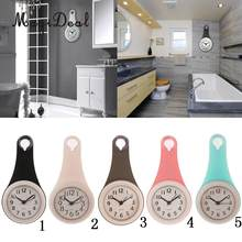 4'' Waterproof Wall Clock Decorative Battery Operated Shower Suction Wall Clocks for Bathroom Living Room Kitchen(China)