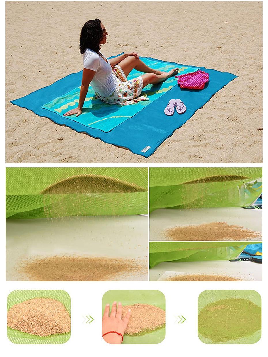 Asciugamano da spiaggia con sabbia