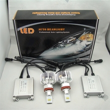 Runstreet (TM) 9000lm H7 Brillante Estupenda Del Coche LED Faros de Luz Antiniebla Kit de Conversión LMZ Lumileds LED Kit K.O. Kit de xenón HID
