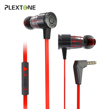 PLEXTONE G25 Gaming Headset With Microphone In-ear Wired Magnetic Stereo Bass With Mic Earbuds Computer Earphone For Phone PS4 цена и фото