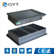 12 inch industrial touch panel PC, Inter j1900 2.0GHz 2GB RAM 32GB SSD 1xRJ45 4xRS232 1xHDMI 800×600 all in one computer