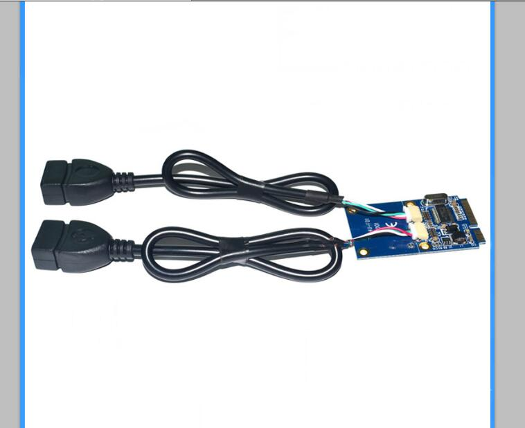 Mini pci-e to usb adapter card mini pcie expansion dual-port usb2.0 expansion card