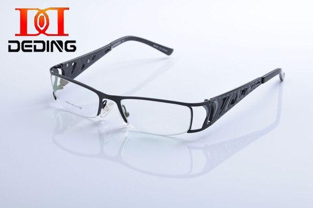 b8134f2d4cbf DeDing Stainless Steel Eyeglasses Frames Man Metal Computer Glasses Optical  Myopia Clear Lens Eyewear Oculos de