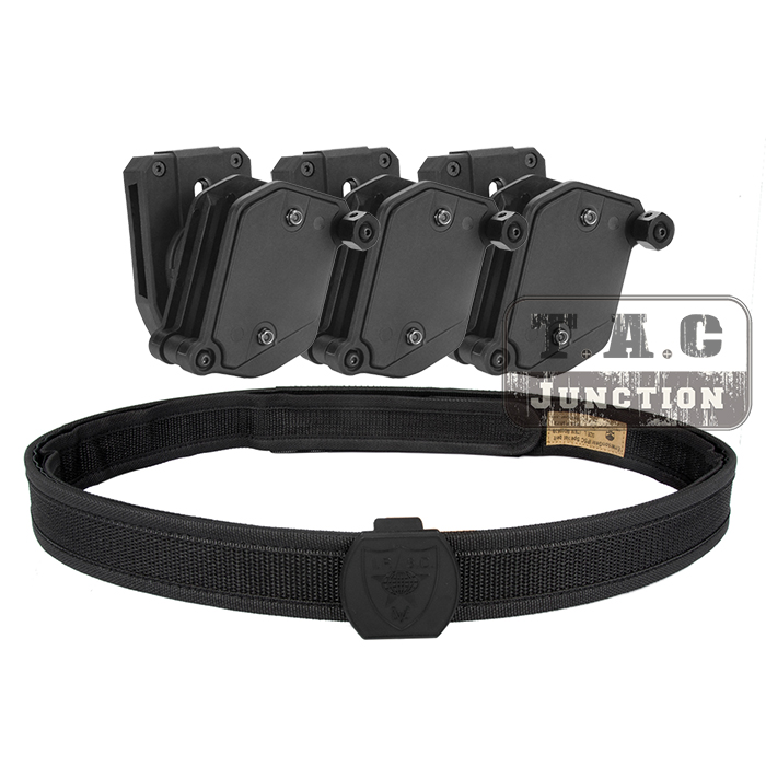 IPSC Magazine Holster USPSA IDPA Competition High Speed Shooting Inner Outer Belt w 3 x Multi