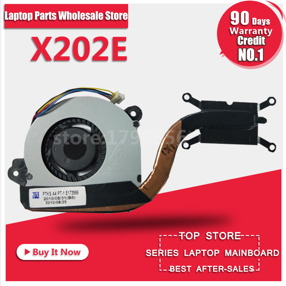 X202E Fan For ASUS VivoBook S200E X201E Q200E X201EP X201EV Laptop Heatsink Assembly Radiator Cooler Cooling Fan CPU Fan Tested computer processor radiator blower heatsink cooler fan for asus u24g u24e b23e laptop cpu cooling