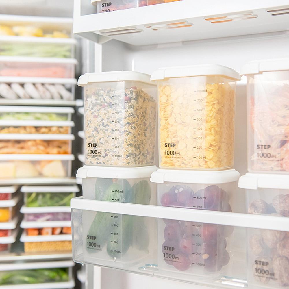 Fridge Storage Rake Freezer Food Storage Boxes Pantry Storage Organizer Bins Container Space-saving Fridge Storage Box #30