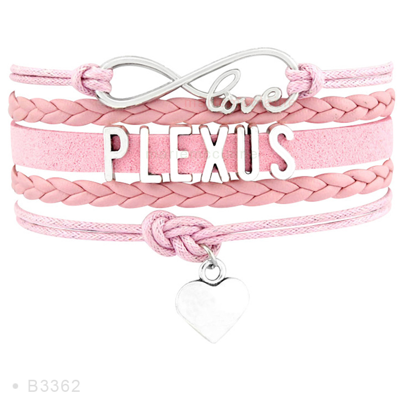 Dropshipping- Infinity Love Plexus Heart Pink Multilayer Fashion Wrap Bracelets For Women Men Fashion Bracelet Jewelry ...
