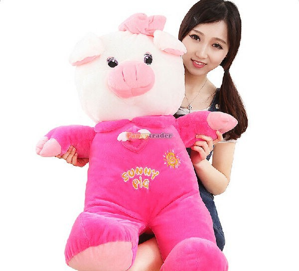 Fancytrader 35\'\' 90cm Jumbo Plush Super Lovely Stuffed Soft Pig, 2 Colors, Free Shipping FT50498 (9)