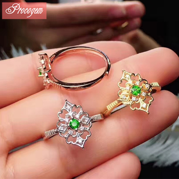 Natural Classic Diopside Rings for Women Ladies Anniversary 3x3mm Genuine Gemstone 925 Sterling silver New fine Jewelry #207