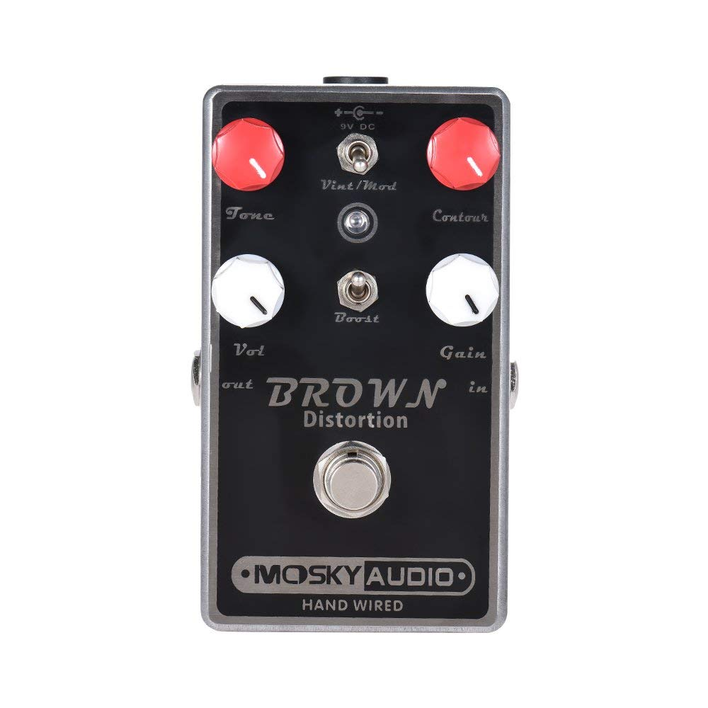New MOSKY BROWN Distortion Guitar Effect Pedal Full Metal Shell True Bypass new aroma ahor 3 holy war metal distortion mini analogue effect true bypass