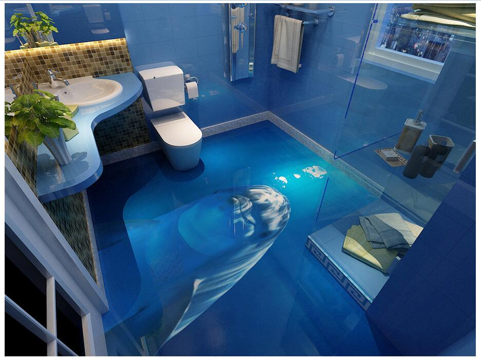 Popular dolphin wall murals buy cheap dolphin wall murals for Decoration 3d sol