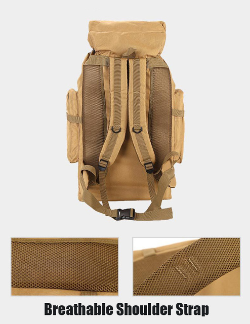 70L Outdoor Backpack Molle Military Tactical Backpack Rucksack Sports Bag Waterproof Camping Hiking Backpack For Travel 6