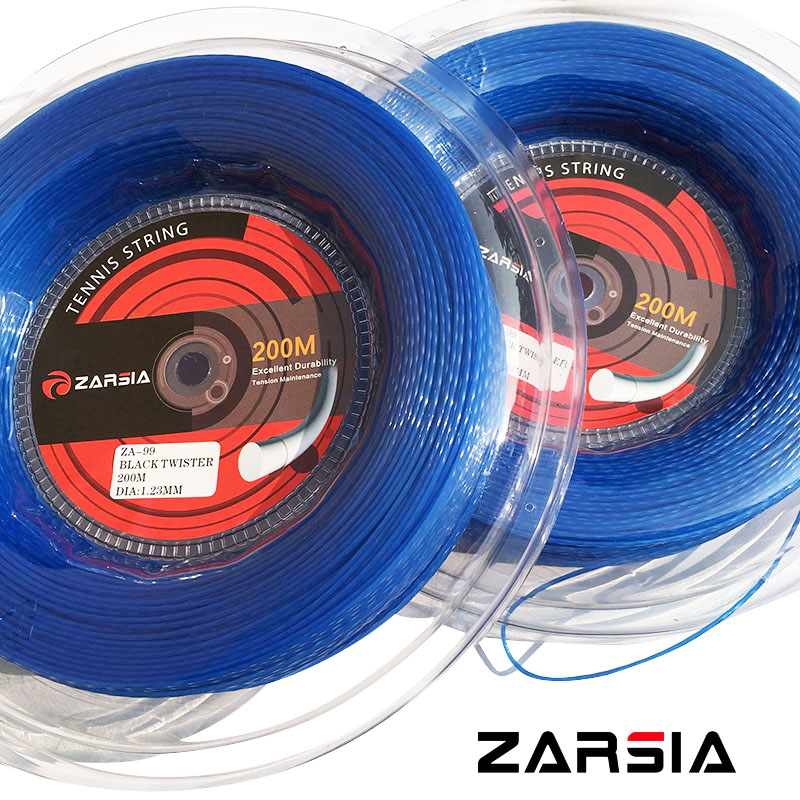 ZARSIA ZA99 New Blue color HEXASPIN TWIST Tennis strings 1 23mm tennis racket string 200M big