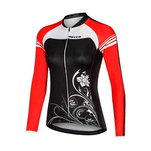 Mulheres Camisa de Ciclismo Mtb Bicicleta Roupas de Ciclismo Feminino Mangas Longas de Bicicleta de Estrada Roupas Menina Desgaste Ciclo Jersey 2