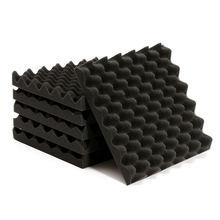 6 шт звукоизоляционных пенных материалов плитки треугольник звукопоглощающий шум для звукозаписи студии прослушивания комнаты