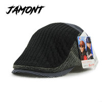 Classic Autumn Winter Cotton Beret Buckle Hat For Men Women Solid Unisex Leisure Warmer Beret Hat