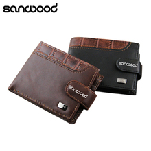 2015 Men's Retro Faux Leather ID Card Holder Money Clutch Coin Wallet Purse 6O59