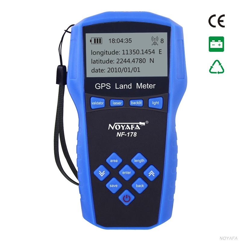 NF-178 Top Quality original Noyafa handheld GPS Test Devices Land Measuring Instrument  method : Manual and automatic gps survey equipment use for farm land surveying and mapping area measurement display measuring value figure track noyafa nf 198