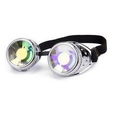 FLORATA – lunettes de soleil colorées Kaleidoscope Arival, lunettes de soleil EDM à lentilles séparées, pour Rave Festival, Steampunk, nouvelle collection 2018